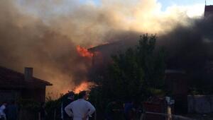 Çamlıderede3 ev, 1 samanlık ve 40 kovan arı yandı