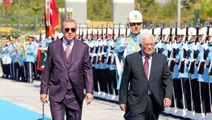 Filistin Devlet Başkanı Abbas, Cumhurbaşkanlığı Sarayında (2) - (Yeniden)