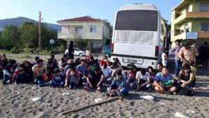 Kastamonuda kaçak göçmen operasyonu
