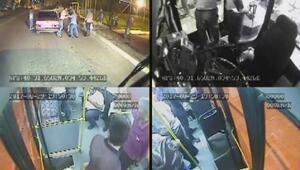 Halk otobüsünde bıçaklı kavga Yaralılar var