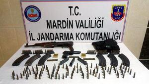 Mardinde silah ve mühimmat ele geçirildi