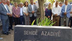 HDPli vekiller Vedat Aydının mezarını ziyaret etti