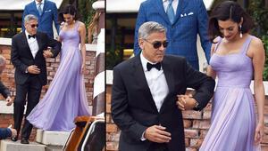 George Clooney karısını galaya böyle getirdi