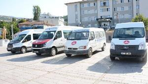 Koyulhisar Belediyesine araç desteği