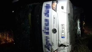 Yozgatta yolcu otobüsü devrildi: 2 ölü, 44 yaralı (1)