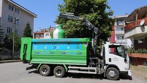 Derincede 8 ayda 70 ton atık cam toplandı