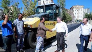 Talas Belediyesinde asfalt çalışmaları sürüyor