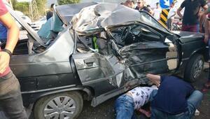 Çanakkaledeki kaza: 1 ölü, 1 yaralı