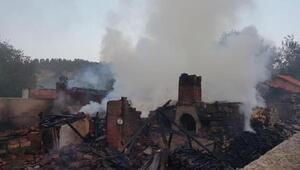 Yangında 4 ahır yandı, 8 hayvan telef oldu