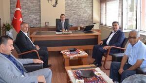 Başkan Eroğlundan, Kaymakam Solmaza ziyaret