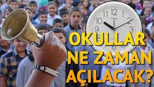 Okullar ne zaman açılacak sorusuna MEBden tarihli yanıt... İstanbul, Ankara ve Adanada okulların açılacağı tarih