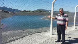 Sulama göletinde su kalmadı