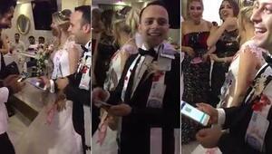 Takı töreninde şaşkına çeviren an Damada telefondan gönderdi