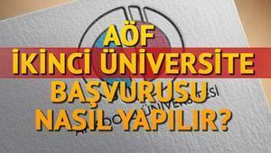 2017 AÖF ikinci üniversite için kayıt belgeleri neler AÖF ikinci üniversite kayıt tarihi ne zaman bitiyor