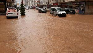 Arhavide şiddetli yağış, su baskınlarına neden oldu