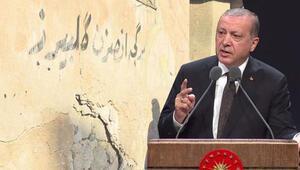Son dakika... Erdoğanın o sözleri Kerkük duvarlarında