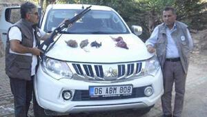Nurhakta, usülsüz avlanan 2 kişi yakalandı