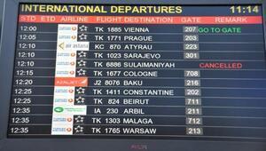 THY Erbil'e son kez uçtu