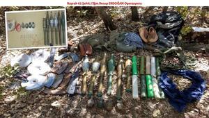 Diyarbakırda teröristlerin kullandığı mağaralar içerisinde silah ve mühimmat bulundu