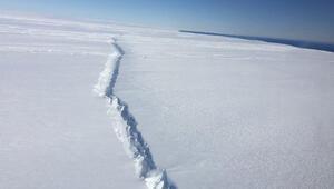 Antarktikada tüm dünyayı korkutan görüntü