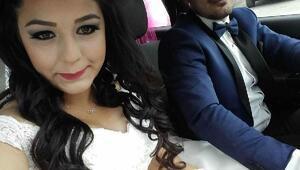 Kazada ölen 1 aylık evli gencin cenazesi toprağa verildi