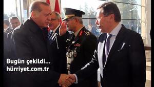 Cumhurbaşkanı Erdoğanı Melih Gökçek uğurladı