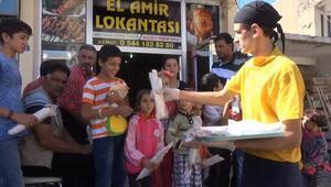 Suriyeden kaçıp Midyatta gelen Suriyeli lokanta açtı