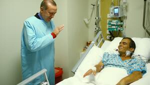 Cumhurbaşkanı Erdoğandan Naim Süleymanoğluna ziyaret