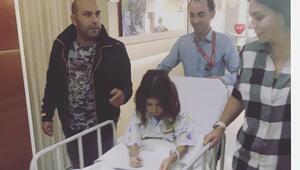 Kızım ameliyat oldu