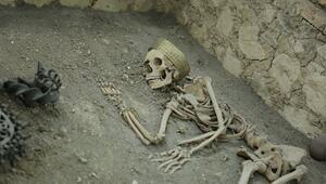 Çorumda 4500 yıllık iskeletler bulundu