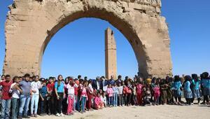 Bilim şenliğine katılan 300 öğrenci Harranı gezdi