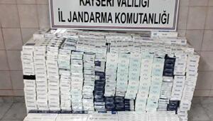Kayseride 7 bin 540 paket kaçak sigara ele geçirildi