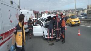 TEM'de trafik kazası 3 yaralı