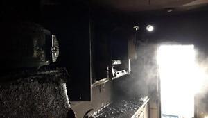 Düzcede yangın paniği, 5 kişilik aile hastaneye kaldırıldı