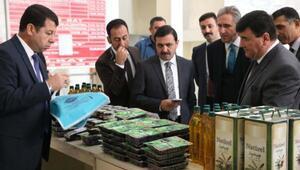 Bursa Adliye Sarayında İM-CE markasıyla zeytin ve zeytinyağı satışı