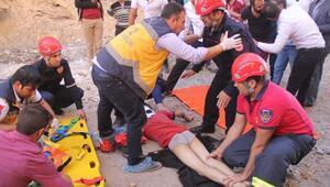 Kaleden düşen Suriyeli çocuk yaralandı