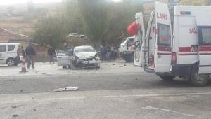 Elmadağ'da zincirleme kaza: 2 ölü, 8 yaralı