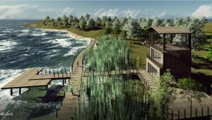 Gölkent Gölü kenarına sosyal tesis yapılıyor