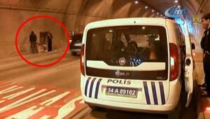 İstanbuldaki tünelde onları görenler şaştı kaldı