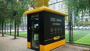Pekin sokaklarında mini spor salonları
