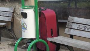 Artvin'de şüpheli valiz paniği