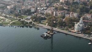 Eminönü -Alibeyköy Tramvay hattı projesi; Haliç kıyıları kazıklar üzerinde genişliyor