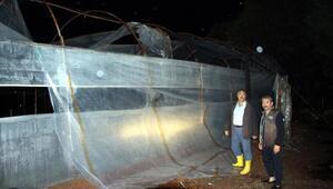 Kumluca'da sağanak ve fırtına seralara zarar verdi