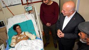 Erzurum Belediye Başkanı Sekmenden elleri kesilen çobana destek sözü