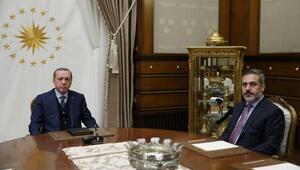 Cumhurbaşkanı Erdoğan, MİT Müsteşarı Hakan Fidanı kabul etti