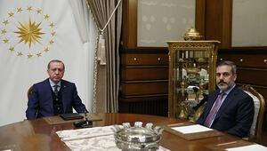 Cumhurbaşkanı Erdoğan, Hakan Fidanla görüştü