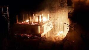 Orduda 3 ev yandı, 5 büyükbaş hayvan öldü