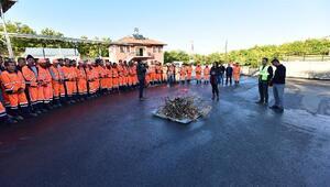 Belediye personellerine yangın eğitimi