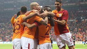 Galatasaray evinde kükredi 6 gol...