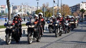 Çanakkalede motosikletli polis timleri göreve başladı